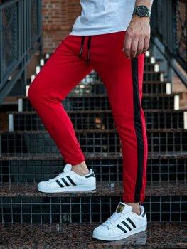 Мужские спортивные брюки джоггеры красные Bolf 11120
