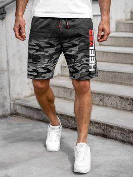 Мужские спортивные шорты графитовые Bolf KK208