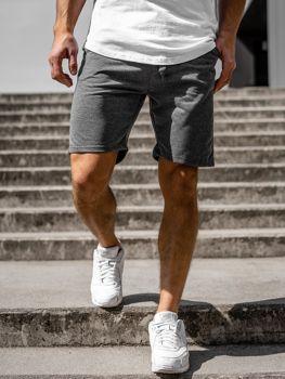 Мужские спортивные шорты графитовые Bolf KK301