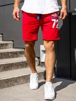 Мужские спортивные шорты красные Bolf EX05