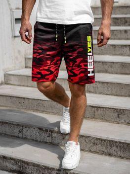 Мужские спортивные шорты красные Bolf KK208