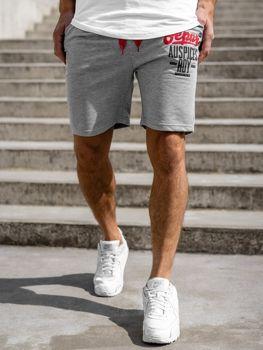 Мужские спортивные шорты серые Bolf EX07
