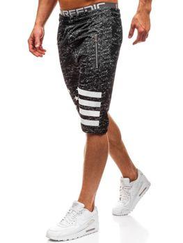 Мужские спортивные шорты черные Bolf HL8570