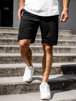 Мужские трикотажные шорты черные Bolf KK301