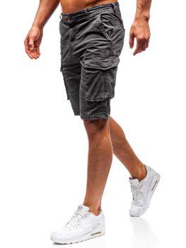 Мужские шорты карго графитовые Bolf 5702-A