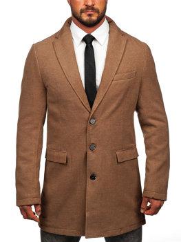 Мужское зимнее пальто кэмел Bolf 1047