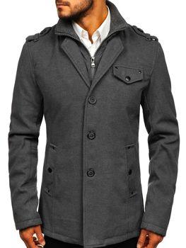 Мужское пальто серый Bolf 8853