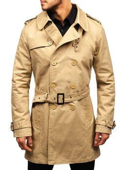 Мужское пальто-тренч бежевое Bolf 5710