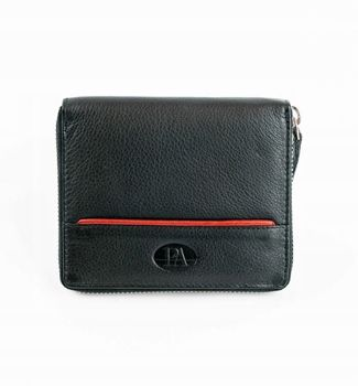 Мужской кожаный кошелек черный 871