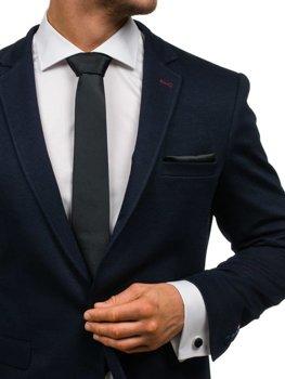 Мужской набор галстук, запонки, пашетка черный Bolf KSP01