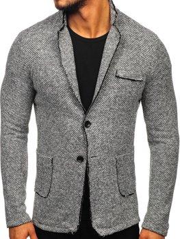 Мужской пиджак серый Bolf 6647