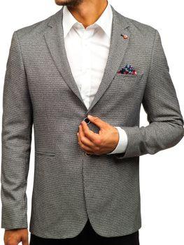 Мужской пиджак casual черный Bolf 0158B