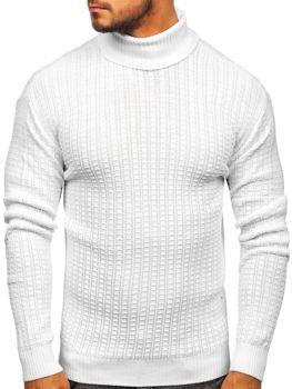 Мужской свитер гольф белый Bolf 315
