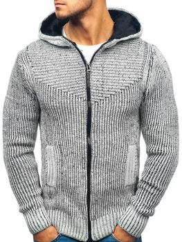 Мужской свитер серо-черный Bolf 20008