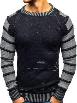 Мужской свитер темно-синий Bolf 6007