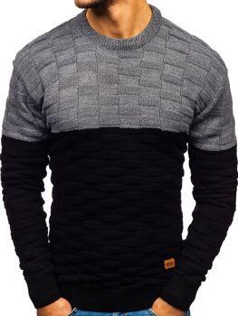 Мужской свитер черный Bolf6003