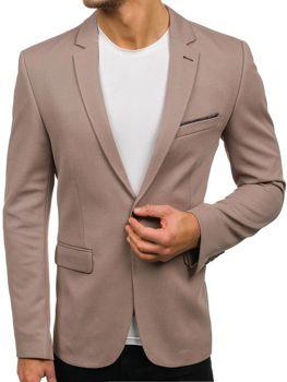 Мужской элегантный пиджак бежевый Bolf302