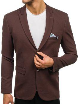 Мужской элегантный пиджак коричневый Bolf192