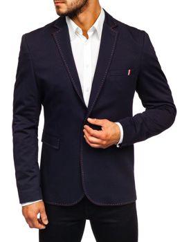 Мужской элегантный пиджак темно-синий Bolf Rbr002-А