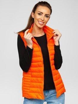 Оранжево-неоновый стеганый женский жилет Bolf 23038