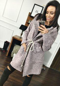 Розовое женское пальто Bolf 6219