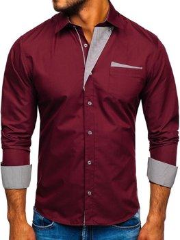 Рубашка мужская BOLF 4713 бордовая