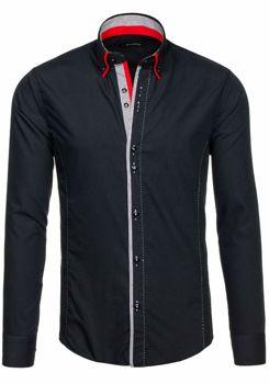 Рубашка мужская BY MIRZAD 6859 черная