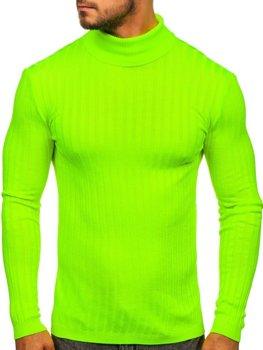 Свитер мужской гольф зеленый-неон Bolf 2002