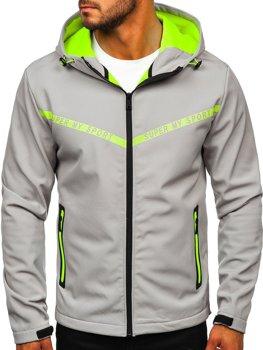 Серая мужская демисезонная куртка softshell Bolf KS2181