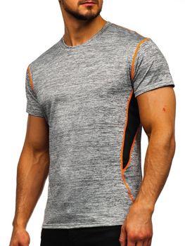 Серая мужская тренировочная футболка без принта Bolf KS2104
