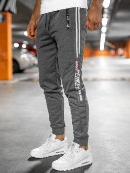 Серые мужские спортивные брюки Bolf JX9511