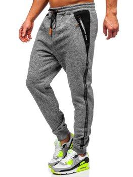Серые мужские спортивные брюки Bolf TC513