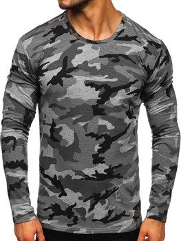 Серый мужской лонгслив камуфляж Bolf 2088-1
