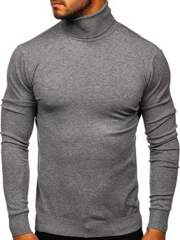 Серый мужской свитер гольф Bolf YY02