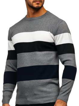 Серый мужской свитер Bolf H2005
