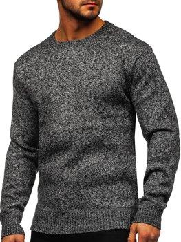Серый утепленный мужской свитер Bolf 7M117
