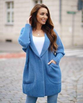 Синее женское пальто Bolf 7108
