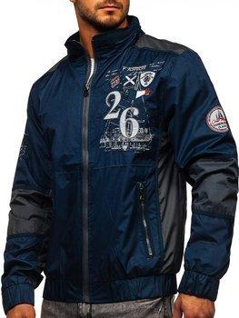Синий мужская демисезонная куртка Bolf 742