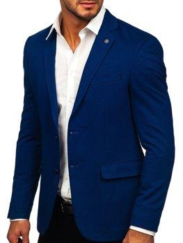 Синий элегантный мужской пиджак Bolf C191060