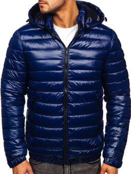 Синяя демисезонная мужская стеганая куртка Bolf 6794