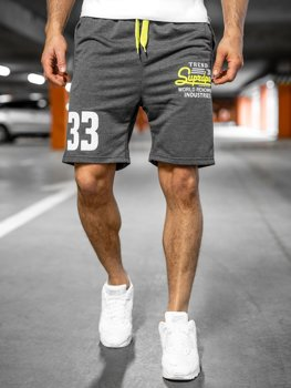 Спортивные мужские шорты графитовые Bolf EX06