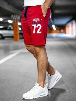 Спортивные мужские шорты красные Bolf EX05