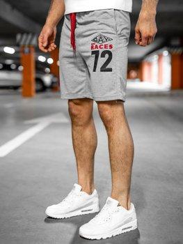 Спортивные мужские шорты серые Bolf EX05