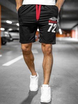 Спортивные мужские шорты черные Bolf EX05