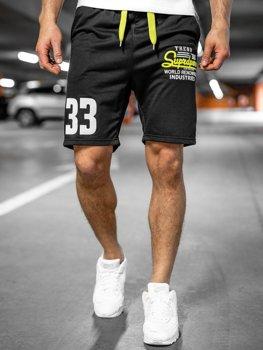 Спортивные мужские шорты черные Bolf EX06
