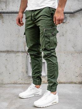 Темно-зеленые мужские брюки джоггеры-карго Bolf CT6702