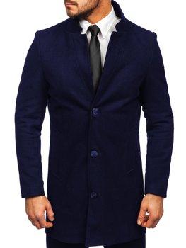 Темно-синее мужское зимнее пальто Bolf 0010