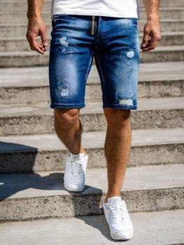 Темно-синие джинсовые шорты мужские Bolf R3008