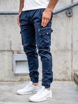 Темно-синие мужские брюки джоггеры-карго Bolf CT6702