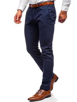 Темно-синие мужские брюки чиносы Bolf 1143